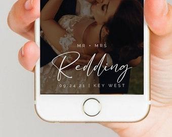 MINIMALIST Wedding Filter Template, Last Name Snapchat Geofilter, Minimalist Theme Snapchat Filter, Wedding Snapchat Filter, Classic Filter