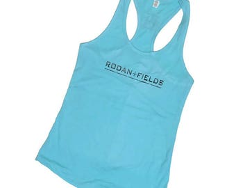 Rodan + Fields Shirt - Tank Top - Racer Back - R + F -- Rodan Fields gifts- Rodan and Fields - Preppy Tank