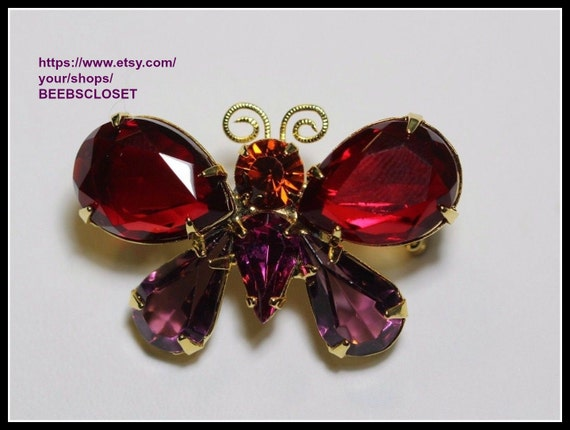 Joan Rivers Butterfly, Red and Purple  Butterfly p