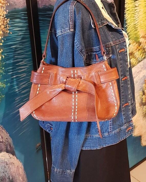 Leather purse, Tan leather purse,Brighton purse, V