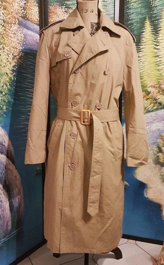 Trench coat, double breasted trench coat, Tan tren