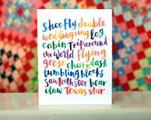 Quilt Love - Hand Lettering Blank Notecard