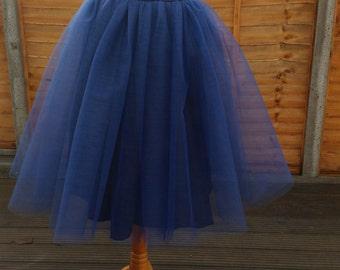 THE SWAN LADY Tea Length Tulle Skirt/ Tutu Skirt
