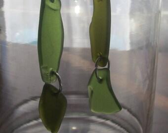 Sea Glass Green Earrings