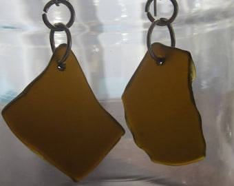 Sea Glass Brown Earrings