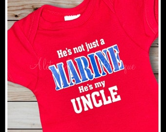 Baby Shower Gift Marine Uncle Marine Onesie Uncle Onesie You Think Your Tough My Uncle Is A Marine Baby Uncle Outfit Marine Family