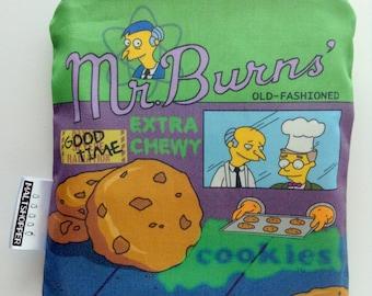 The Simpsons Reusable Snack Bag - Mr. Burns Cookies - Eco-Friendly Bag Geek Gift