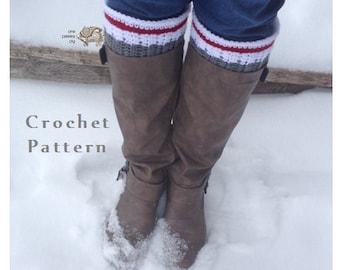 Work Sock Boot Cuffs (Advanced Version) - PDF CROCHET PATTERN