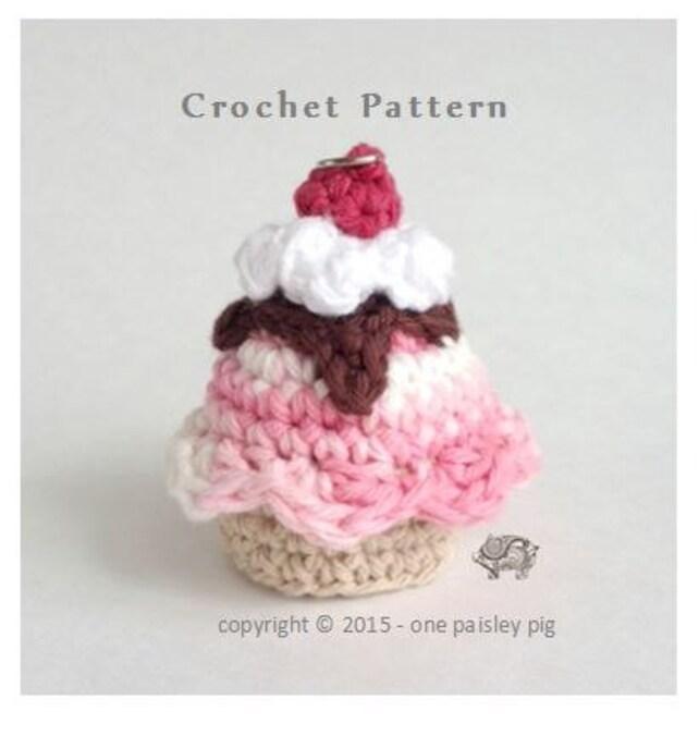 EOS Holder Ice Cream Sundae Instant Download CROCHET PATTERN   Etsy