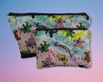 Grateful Dead Dancing Bears Make Up Bag and Coin Purse Set