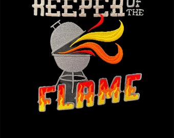 Keeper of the flame embroidered apron