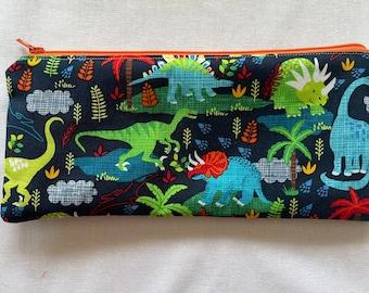 Colorful Dinosaur Pencil Case