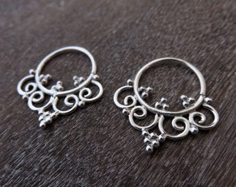 small creoles - silver