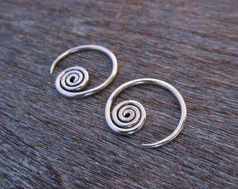 small hoops silver