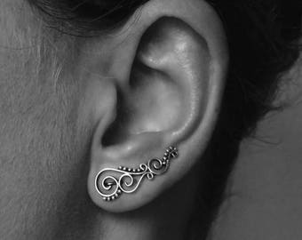 """earcuff """"spiral - dotted"""""""