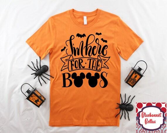 I'm Here For The Boos ShirtDisney Halloween ShirtDisney ShirtsDisney Family Shirts HalloweenMickey MouseHalloween PartyDisney ears