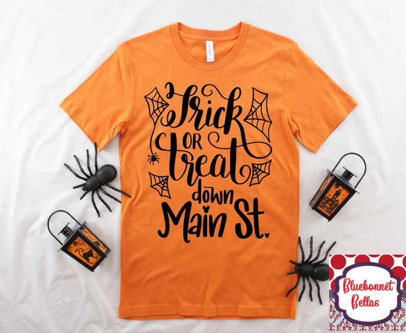 c175a4eb Trick or Treat Down Main Street/Disney Halloween Shirt/Disney | Etsy