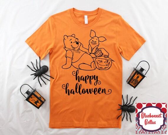 60627bfb9507 Pooh and Piglet Happy Halloween Shirt Disney Halloween