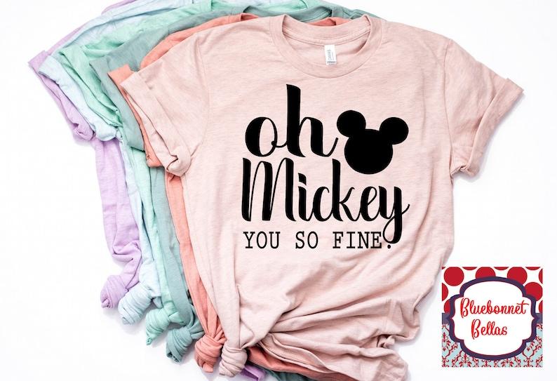 1568b0f85 Disney Shirts/Oh Mickey You So Fine Shirt/Mickey Mouse/Disney | Etsy