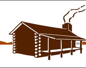 Log Cabin SVG