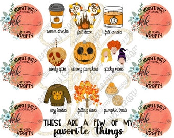 a few of my favorite things • FALL edition *version 2* [sublimation digital download] PNG image