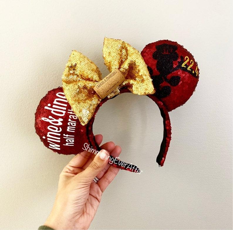 2020 Walt Disney World RunDisney Marathon Weekend Minnie Ears Headband IN HAND