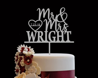 Personalized Wedding Cake Topper Etsy