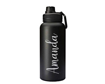 Stainless Steel Water Bottle with Free Engraved Customization//Personalization !!