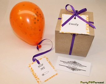 Will you be my Bridesmaid, personalized message inside balloon, Bridesmaid Proposal, Will you be Maid of Honor, Matron of Honor, Flower Girl