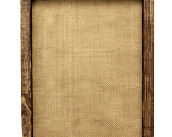 Add a frame to your burlap order