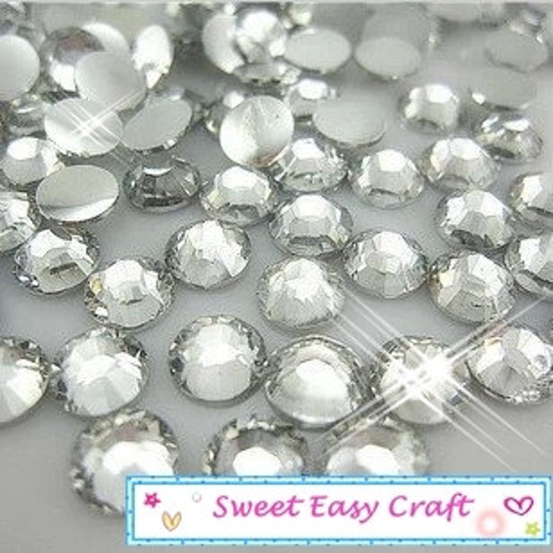 620830fb5b9c 10000 1000 500 PCS 2 2.5 3 4 5 6mm Round Clear Crystal White