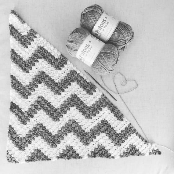 Chevron Crochet Corner to Corner Blanket Pattern with Graph | Etsy