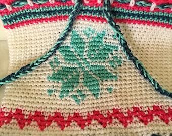 Snowflake Neck Warmer Crochet Pattern, cowl, scarf