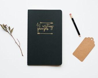 40 Creative Writing Prompts - Moleskine Journal - Creative Journal - Author Notebook