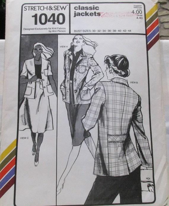 Strecke & Nähen Muster 1040. Klassische Jacken. Büste Größen | Etsy