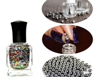 100pcs, Nail Polish, Mixing, Balls, Stainless Steel Beads, for Glitter Polish, 5mm, dry nail polish, agitator, nail polish bottle, manicure