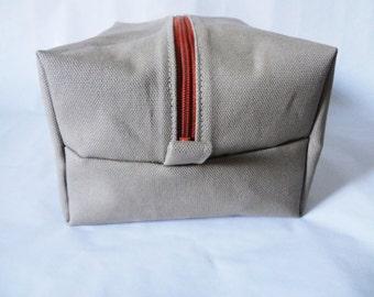 Khaki Men's Travel Bag- toiletry, dopp kit, shaving kit