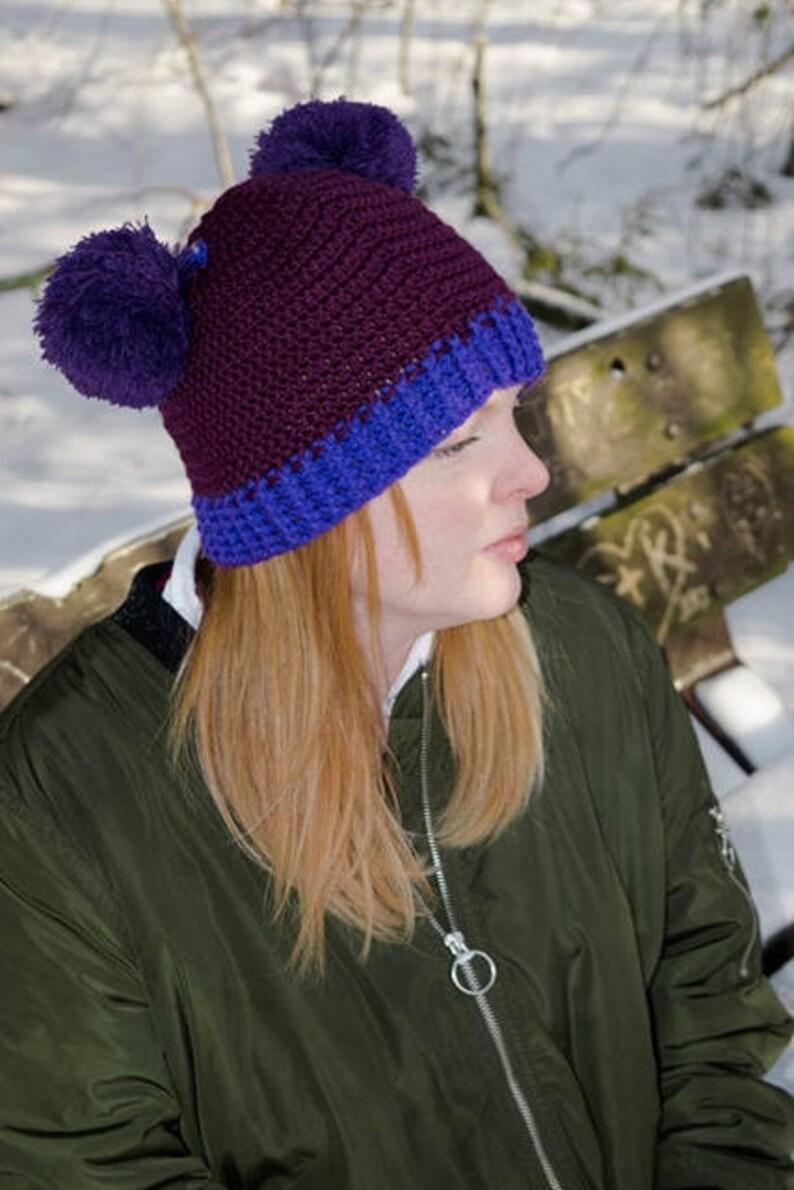 Pompom Ear Hat Crochet Pattern