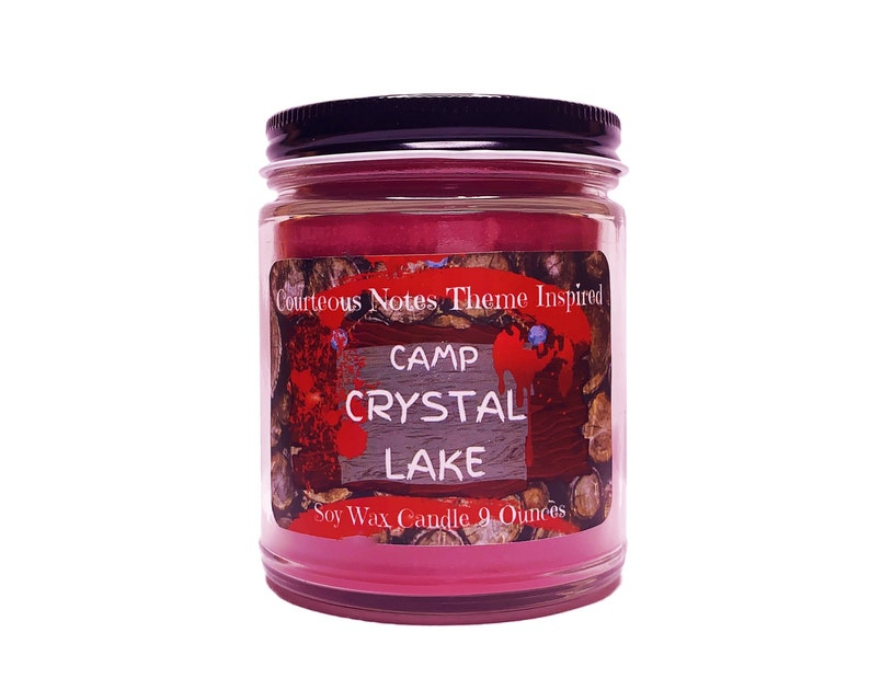 Camp Crystal Lake Theme Inspired Soy Wax Candle Highly image 0