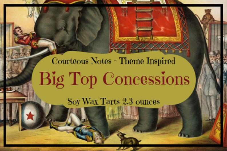 Big Top Concessions  Disney Theme Park Inspired Wax Tarts