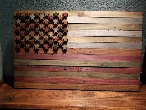 Pallet American Wood Flag Various Stain Colors Rustic Farmhouse Wall  Hanging Decor House She Shed Man Cave Cabin Lodge Cottage Northwoods