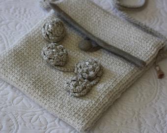 Shoulder bag handmade Tunisian crochet