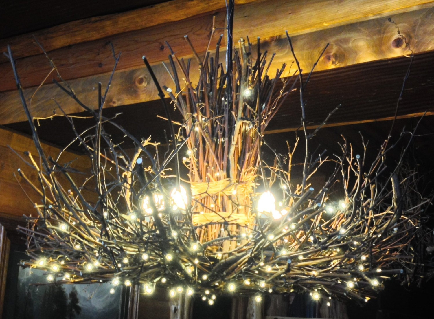 The Appalachian Rustic Outdoor Chandelier 5 Candle Etsy