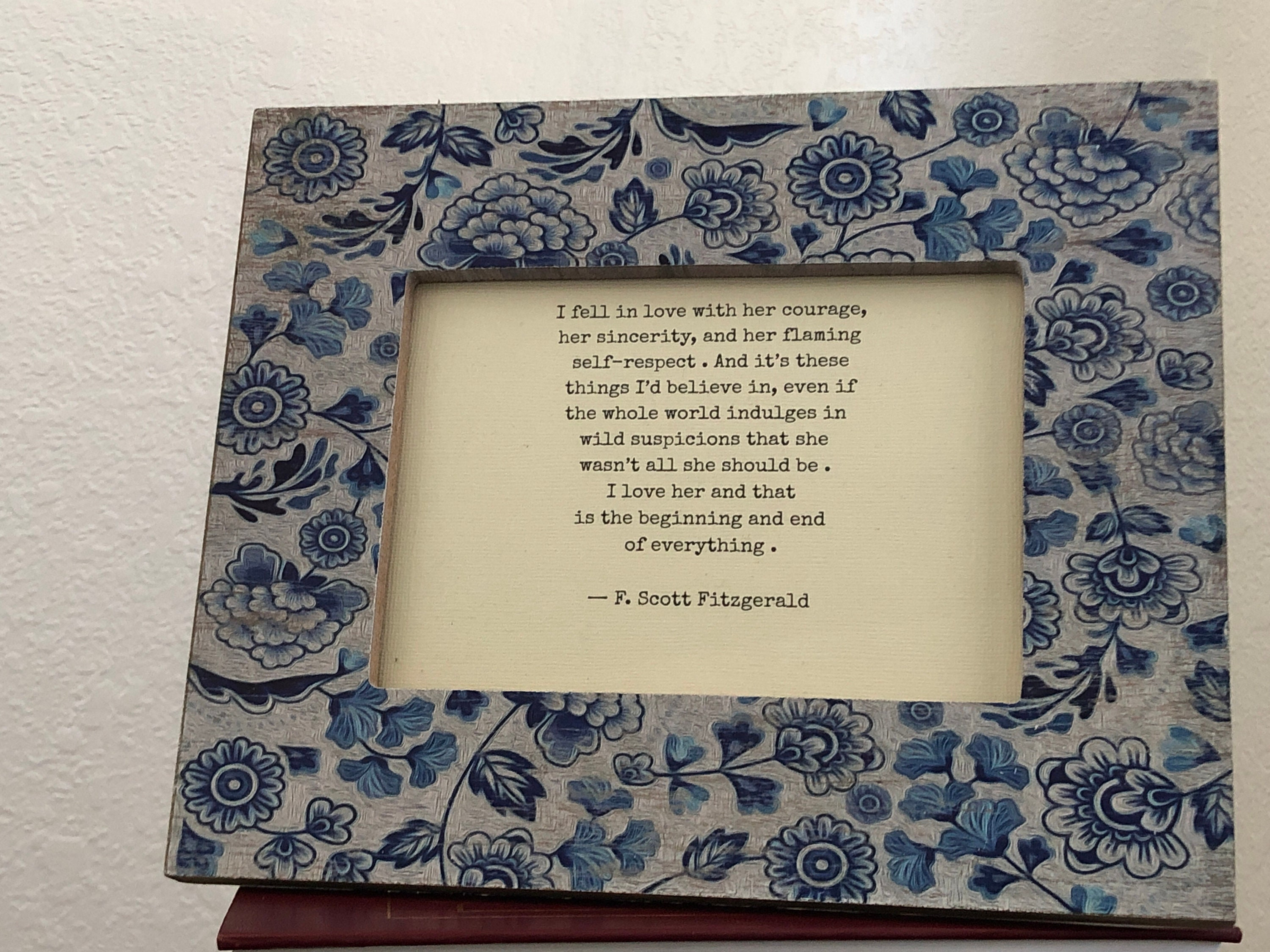 I Fell In Love With Her Courage F Scott Fitzgerald Love Quote Etsy