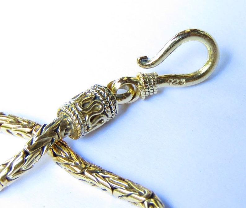 20cm 18kt Gold 0n 925 Silver Borobudur Bracelet SBB-542-DG