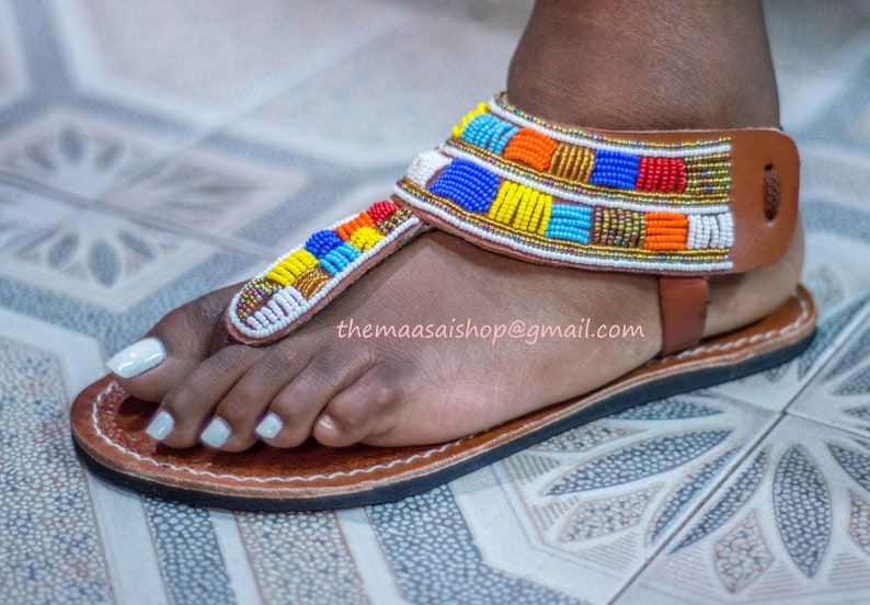 0c7cd8d357cac Handmade Leather Sandals/ African Maasai Sandals/ Greek Sandals