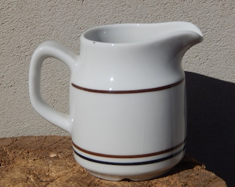 Scandinavian Vintage Rorstrand Ceramic Pitcher Milk Jug by Louise Adelborg Rostrand Sweden Scandinavian Design