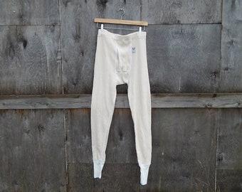 608df3fd629 Vintage Long Underwear Mens Beige Army Long Pants
