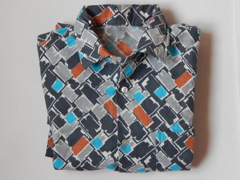 Unisex Cotton Flannel Long Sleeve Checked Shirt Vintage Unused LARGE Soviet Vintage Men Shirt