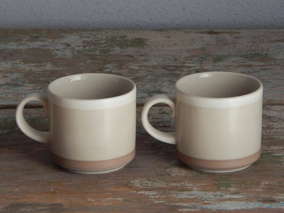 Arabia of Finland Tupa Coffee Cup Replacement Cup Ceramic Set 1980 s Stoneware